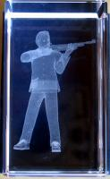 3D Schütze im Glasblock